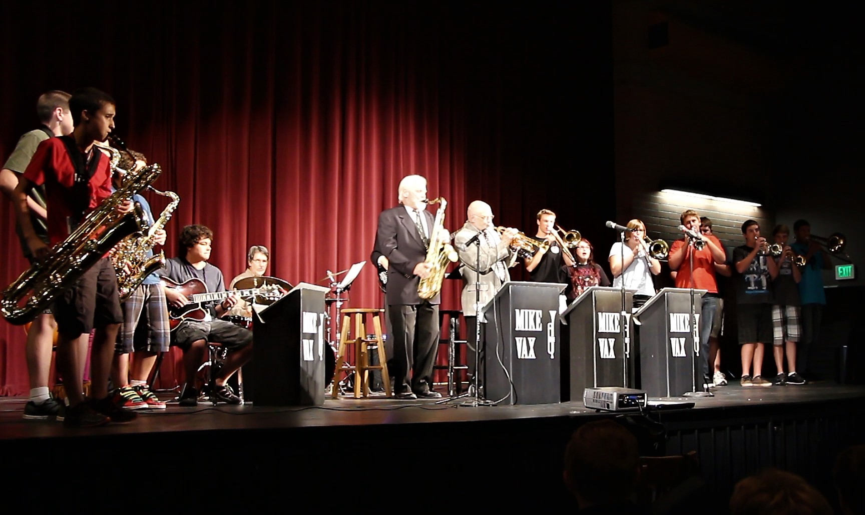 Assembly at Prescott HS with music students (2)